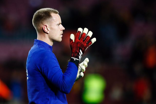 01 Ter Stegen from Germany of FC Barcelona during the Spanish Copa del Rey match between FC Barcelona and Leganes at Camp Nou on January 30, 2020 in Barcelona, Spain.