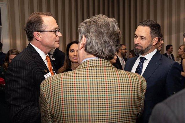 El presidente de Vox, Santiago Abascal, ha asistido en Washington al discurso de clausura del presidente de Estados Unidos, Donald Trump, en la Conferencia de Acción Política Conservadora (CPAC),