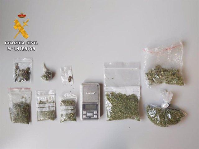 Droga incautada en la operación en Vitigudino (Salamanca).