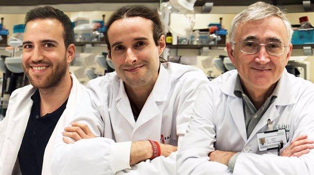 Los investigadores y autores del estudio Martí Duran-Ferrer, Iñaki Martín-Subero y Elías Campo