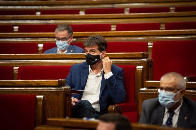 El president d'ERC al Parlament, Sergi Sabrià, en el debat de política general. Barcelona, Catalunya (Espanya), 16 de setembre del 2020.