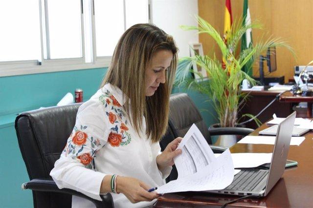 La delegada de la Junta en Huelva, Bella Verano, en una imagen de archivo.
