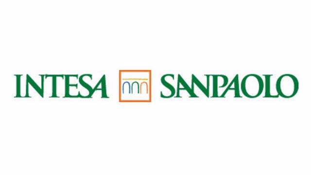 Logo del banco italiano Intesa Sanpaolo.