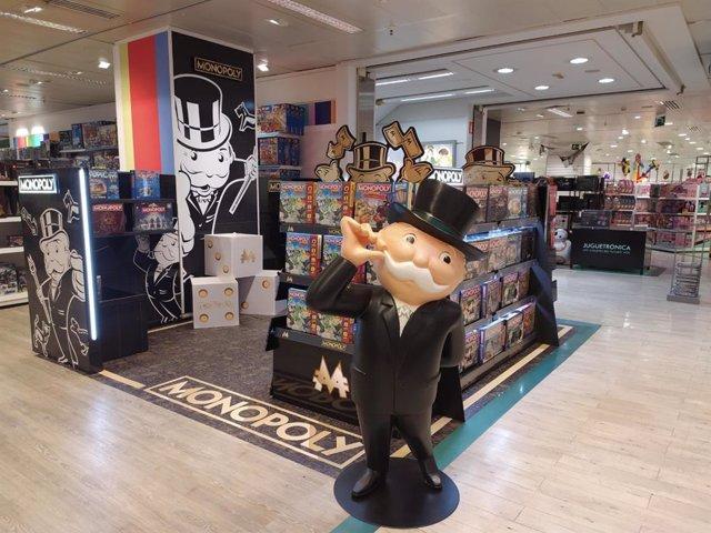 Pop Up de Monopoly en El Corte Inglés de Avenida de Francia