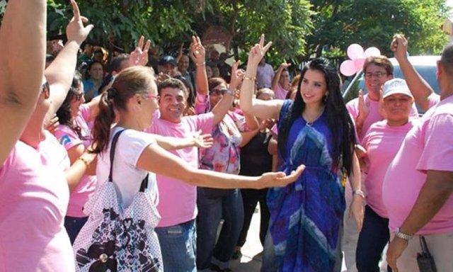 La excongresista del Partido Conservador y fugada de la Justicia colombiana Aída Merlano