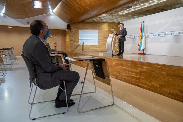 Rueda de prensa del presidente de la Xunta, Alberto Núñez Feijóo.