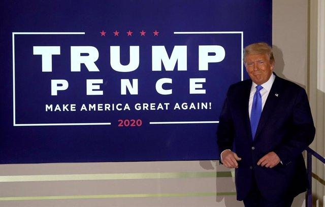 Donald Trump en la Casa Blanca durante la noche electoral