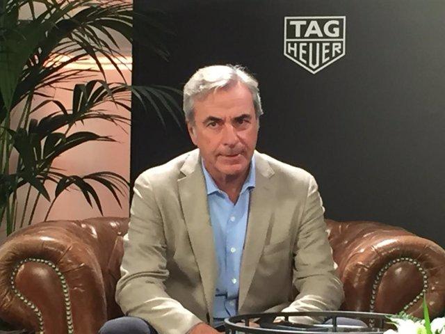 Carlos Sainz en un evento de Tag Heuer