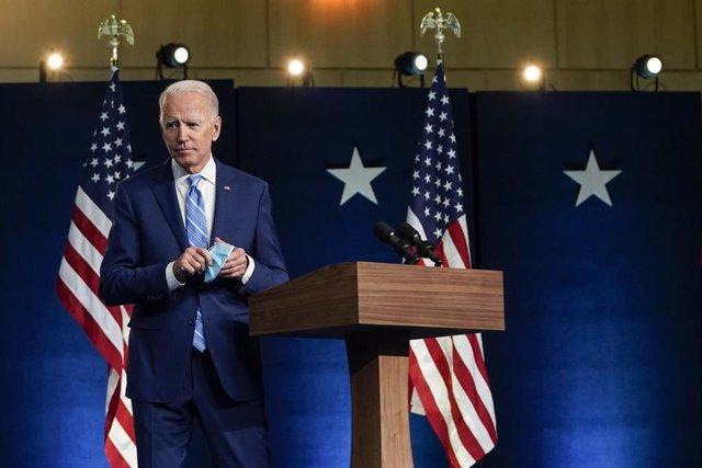 Joe Biden comparece ante los medios