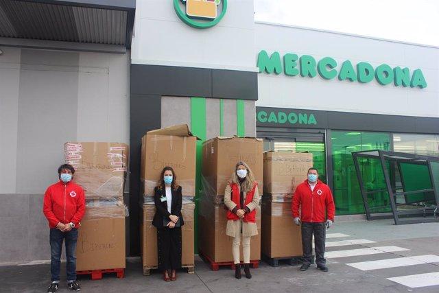 Material infantil donado por Mercadona a Cruz Roja Valladolid.