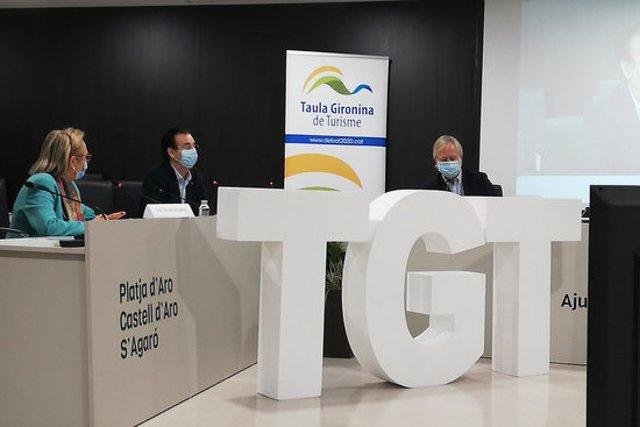 Imatge dels ponents de la inauguració del Debat 2020 de la Taula Gironina del Turisme el 5 de novembre de 2020 (Horitzontal)