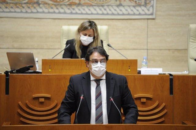 Vergeles en una comparecencia en la Asamblea para informar sobre la situación de la Covid-19
