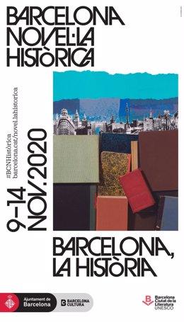Cartel de la octava edición del festival Barcelona Novel·la Històrica