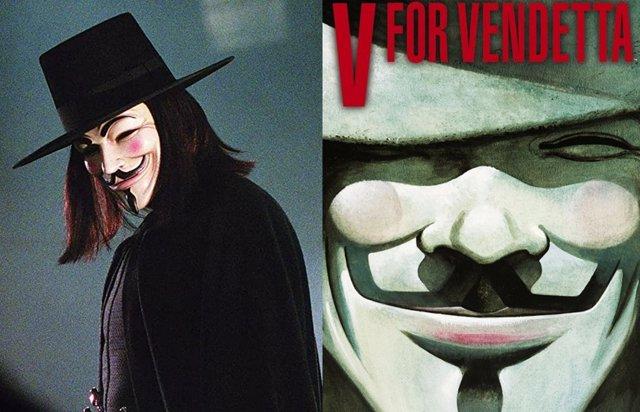 10 Diferencias Entre El Cómic Y La Película De V De Vendetta