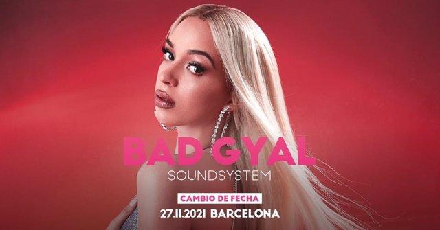 Cartell del concert de Bad Gyal a Barcelona