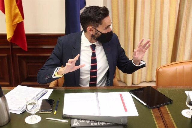 El secretari d'estat de Seguretat, Rafael Pérez, en una compareixença al Congrés
