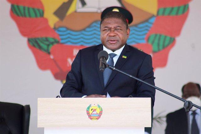 El presidente de Mozambique, Filipe Nyusi