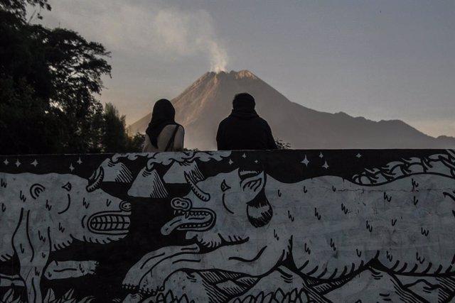 El volcán Merapi, en Indonesia.