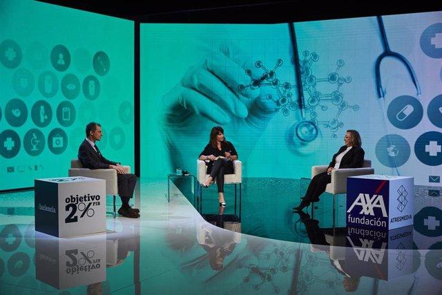 El ministro Pedro Duque y la científica Ángela Nieto inauguran las 'Conversaciones Constantes y Vitales', moderadas por Mamen Mendizábal