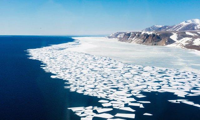 Imagen del deshielo y el cambio climático.