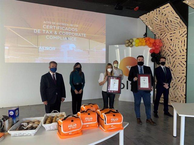 Soltec recibe certificados de Aenor