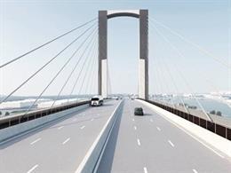 Recreación virtal del futuro diseño del puente del Centenario
