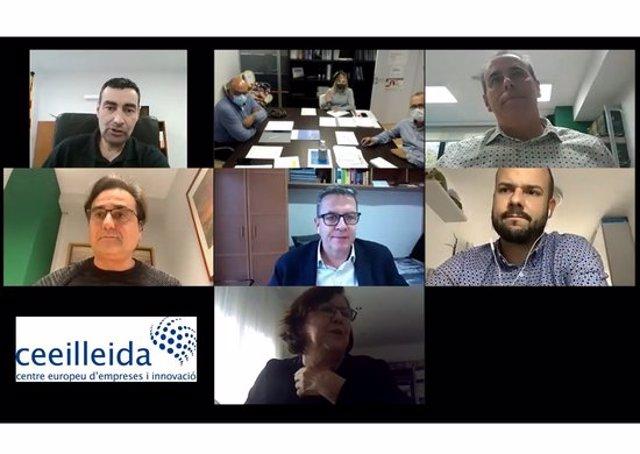 Captura de pantalla de la reunió del consell directiu del CEEILleida, celebrada el 5 de novembre del 2020. (Horitzontal)