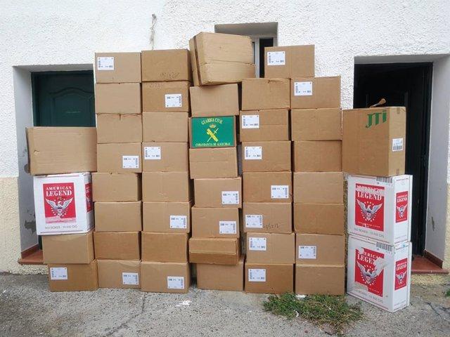 Tabaco de contrabando interceptado en San Roque