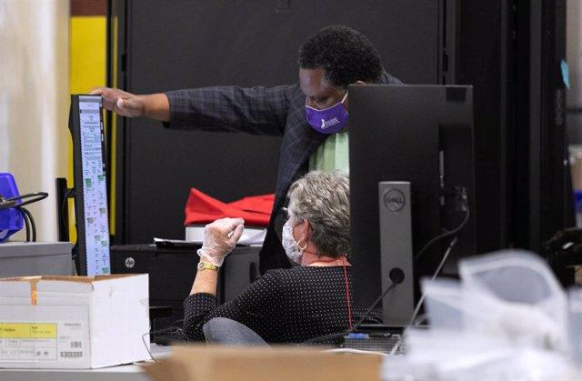 Recuento de votos en Atlanta, Georgia