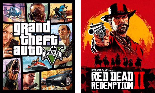GTA V y Red Dead Redemption II.