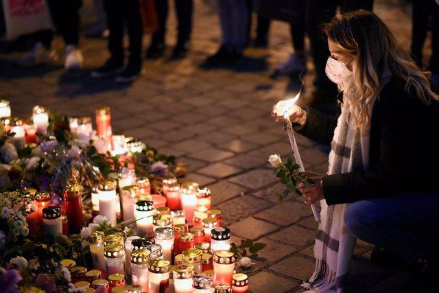 Acto en recuerdo de las víctimas del atentado en la capital de Austria, Viena