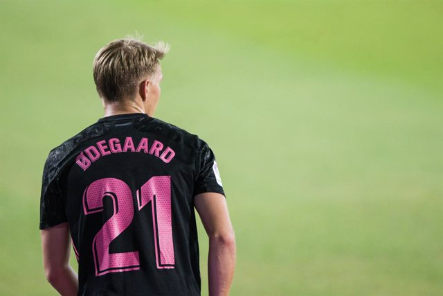Martin Odegaard of Real Madrid during LaLiga, football match played between Real Betis Balompie and Real Madrid Club de Futbol at Benito Villamarin Stadium on September 26, 2020 in Sevilla, Spain.