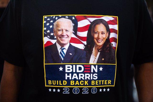 Una samarreta de la campanya de Joe Biden i Kamala Harris