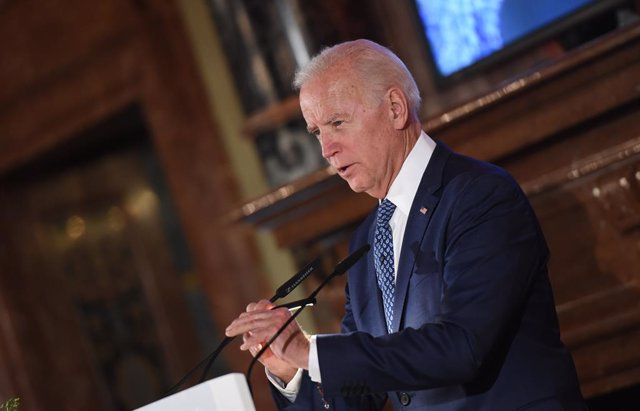 FILED - 17 February 2018, Bavaria, Munich: Former US Vice President Joe Biden speaks during the 54th Munich Security Conference. US Democratic candidate Joe Biden has won enough electoral votes to be declared the winner of the US presidential election, be