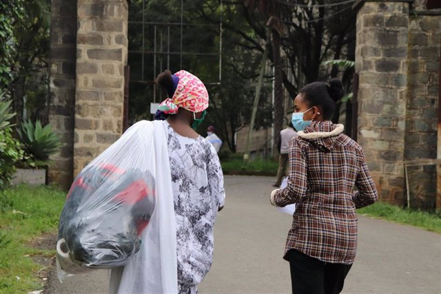 Asistencia a menores no acompañados recién llegados a Etiopía