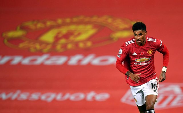 01 November 2020, England, Manchester: Manchester United's Marcus Rashford in action during the English Premier League soccer match between Manchester United and Arsenal at Old Trafford. Photo: Paul Ellis/PA Wire/dpa