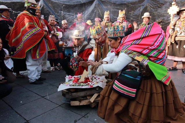 Ceremonias tradicionales por la toma de posesión de Luis Arce como presidente de Bolivia