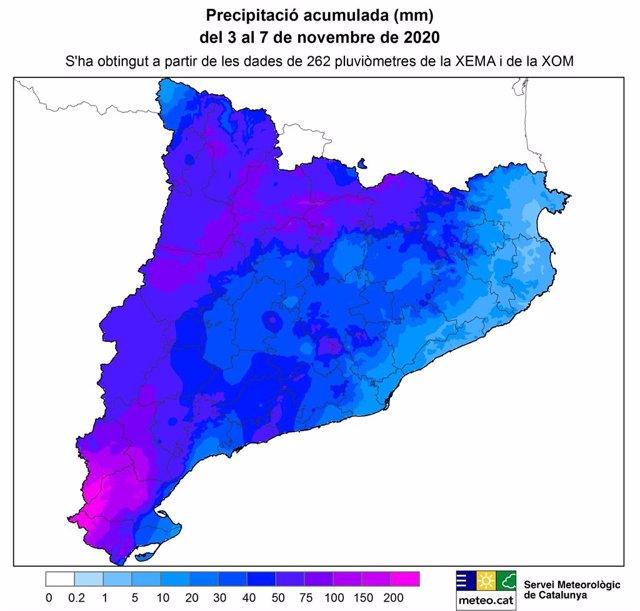 Les pluges d'aquesta setmana deixen màxims de gairebé 300 mm al massís dels Ports (Tarragona).