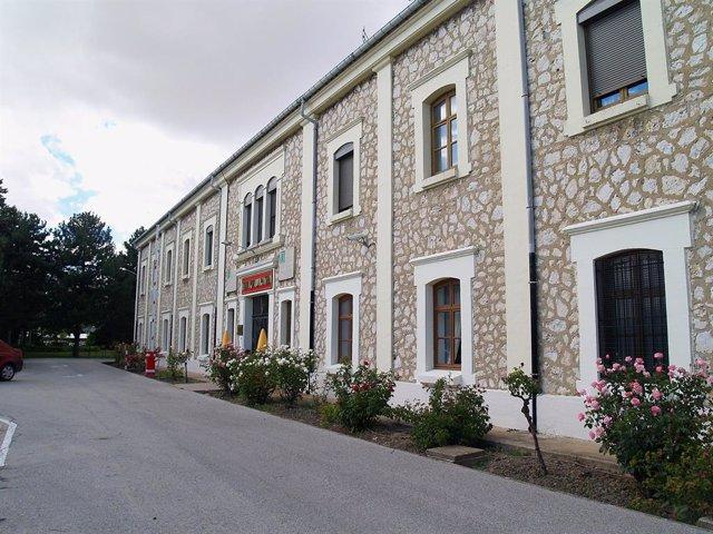 Una caserna militar a Burgos.
