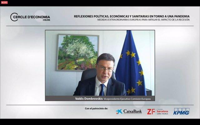 El vicepresidente ejecutivo de la Comisión Europea, Valdis Dombrovskis.
