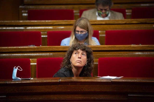 La consellera d'Agricultura, Teresa Jordà, al Parlament.