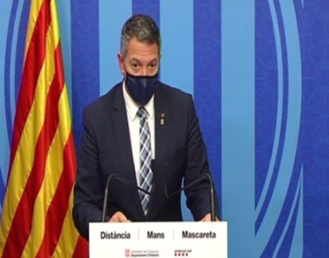 """Sàmper atribueix """"ràbia"""" als incidents amb pintura a la Generalitat de Catalunya"""
