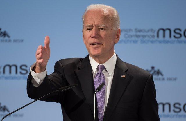 16 February 2019, Munich: Former US Vice President Joe Biden. Photo: Sven Hoppe/dpa
