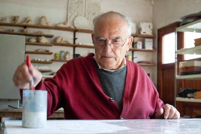 L'escultor Domènec Fita