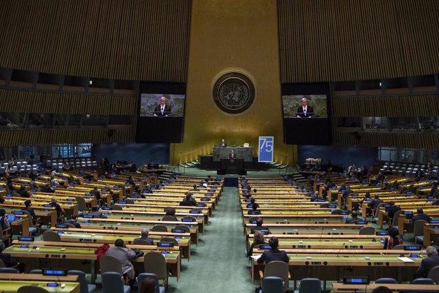 Imagen de archivo de la Asamblea de Naciones Unidas.