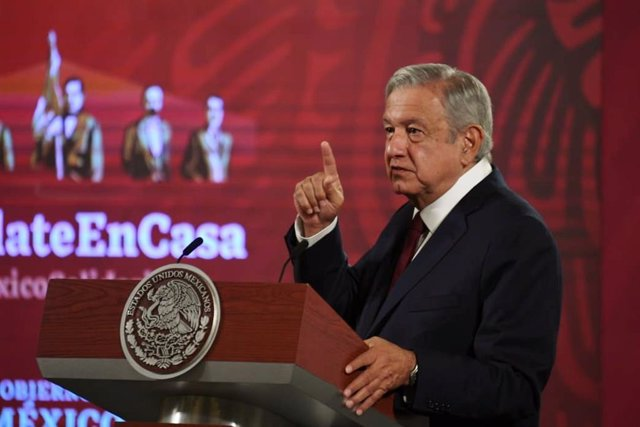 30 October 2020, Mexico, Mexico City: Mexican President Andres Manuel Lopez Obrador speaks during his daily press conference at the National Palace. Photo: -/El Universal via ZUMA Wire/dpa