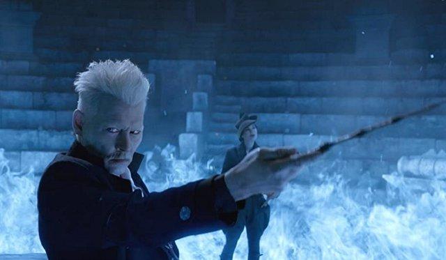 Johnny Depp en Animanes Fantásticos: Los crímenes de Grindelwald
