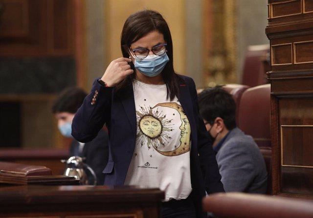 La diputada del PP Ana Belén Vázquez Blanco al Congrés dels Diputats. Madrid (Espanya), 1 d'octubre del 2020.