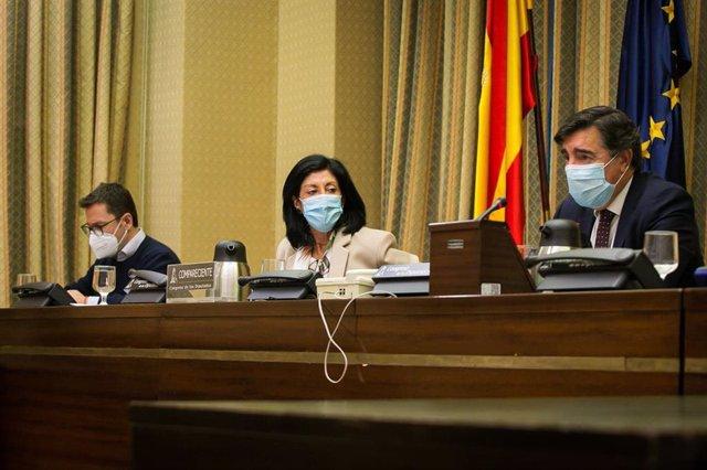 La secretaria de Estado de Defensa, Esperanza Casteleiro, en la Comisión de Defensa del Congreso