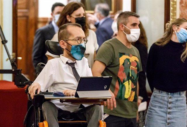 El portavoz de Unidas Podemos en el Congreso de los Diputados, Pablo Echenique